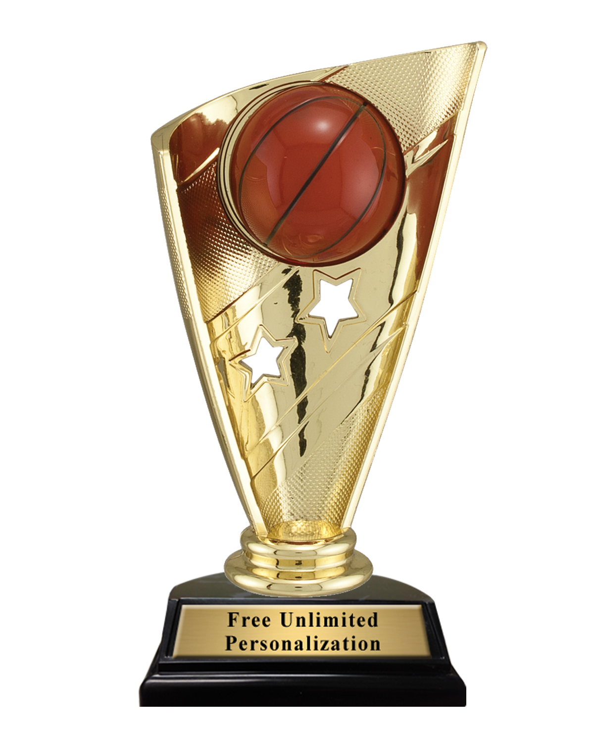 Star Banner Basketball Trophy - K2 Awards and Apparel