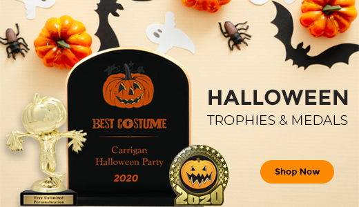 Shop Halloween Trophies, Awards, Medals, and Plaques