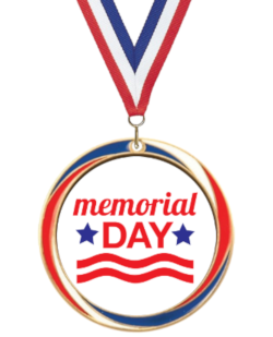 Antique Red, White & Blue Memorial Day Medal