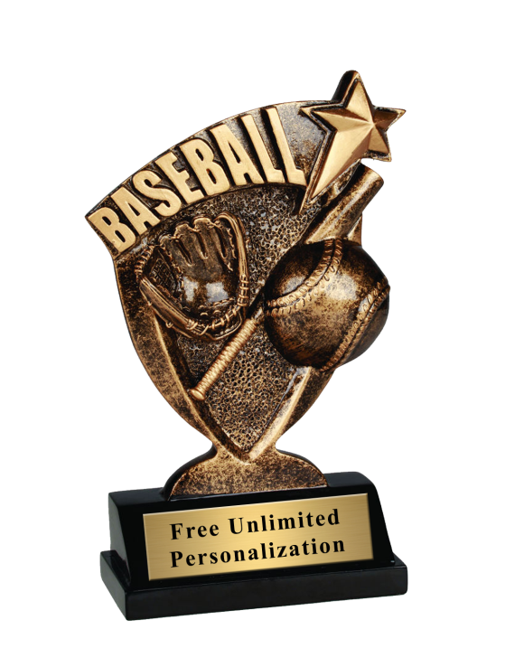 Broadcast Baseball Trophy