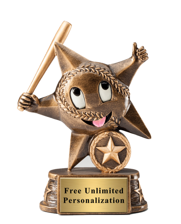 Little Star Baseball Trophy