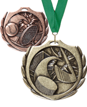 "2.25"" Burst Wreath Medals"