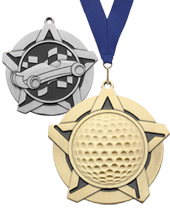 "2.25"" Super Star Medals"