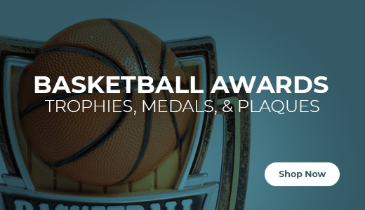Shop Basketball Trophies, Medals, and Plaques