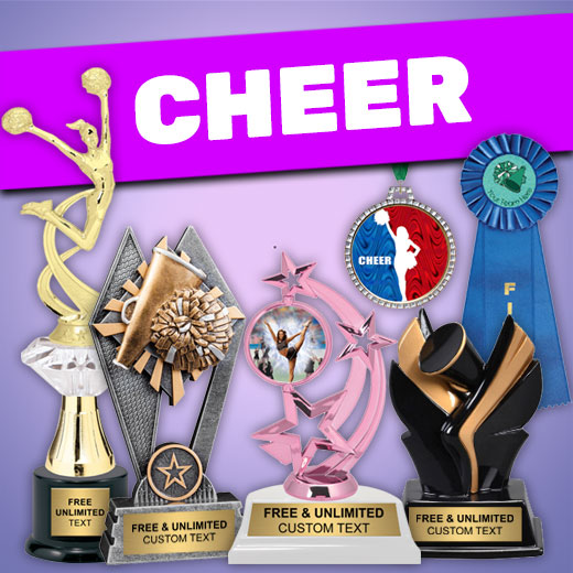 Affordable Cheer Trophies, Medals, Plaques and More