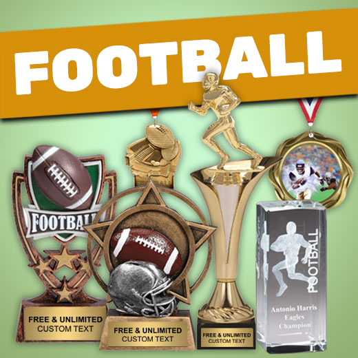 Value Football Trophies, Medals, and Plaques