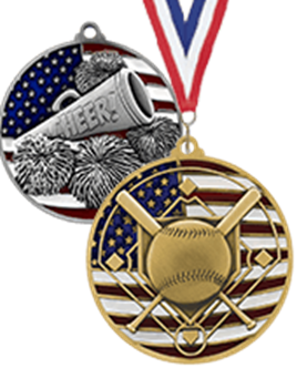 "2.75"" USA Flag Medals"