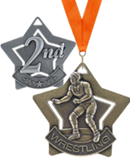 "2.25"" Star Medals"