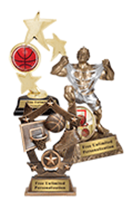 Youth Basketball Trophies
