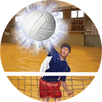 Volleyball Male Color Motion