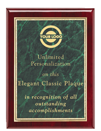 Classic Rosewood Plaque - Green