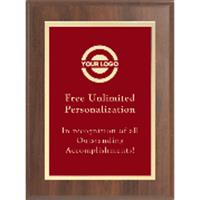 Classic Gold Border Plaque - Red