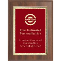 Classic Double Gold Border Plaque - Red