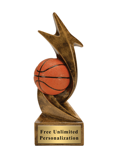 Star Storm Basketball Trophy