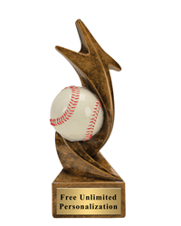 Star Storm Baseball Trophy