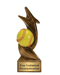 Star Storm Softball Trophy