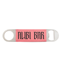 Pink Leatherette Bottle Opener