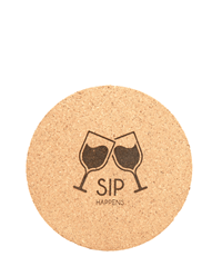 Personalized Round Cork Coaster