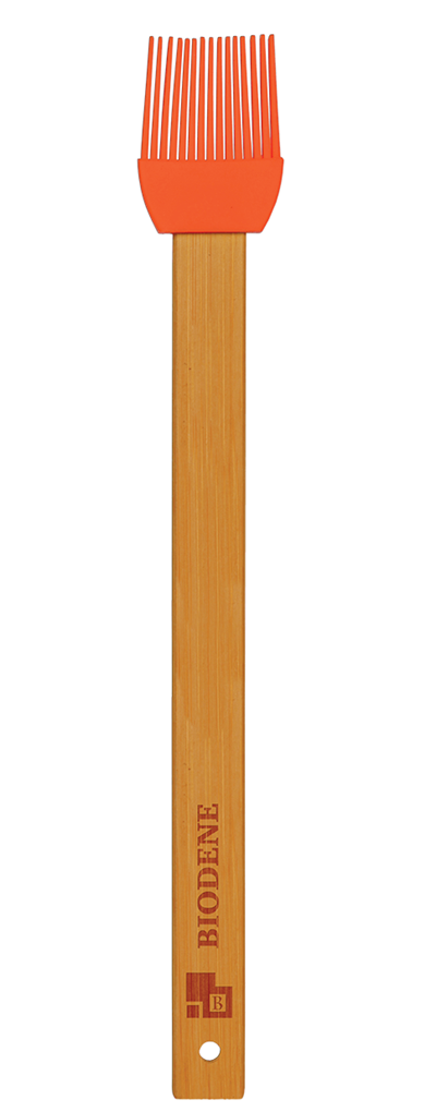 Red Silicone Baster with Bamboo Handle