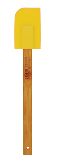 Yellow Silicone Spatula with Bamboo Handle