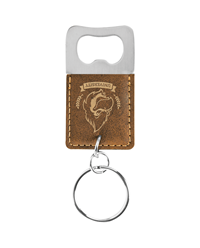 Rustic/Gold Rectangle Bottle Opener Keychain