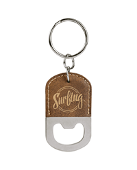 Rustic/Gold Oval Bottle Opener Keychain
