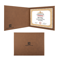Dark Brown Leatherette Certificate Holder