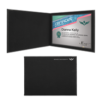 Black/Silver Leatherette Certificate Holder