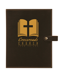 Black/Gold Bible Cover with Snap Closure
