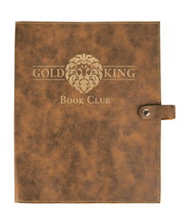 Rustic/Gold Bible Cover with Snap Closure