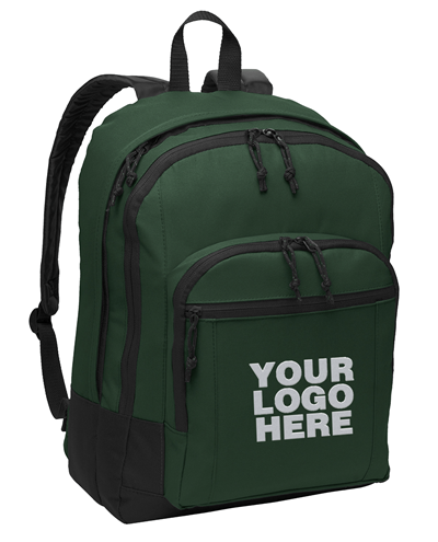 Basic Forest Green Backpack by Port Authority