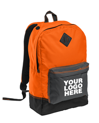 Retro Neon Orange Backpack by District