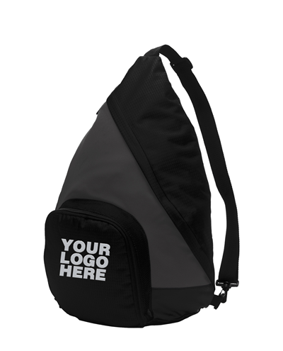 Active Charcoal/Black Sling Pack by Port Authority
