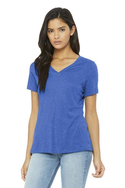 Bella+Canvas Women's Relaxed Jersey V-Neck Tee