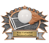 Volleyball Flame Oval Award