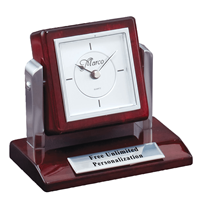Tilting Rosewood Desk Clock