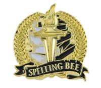 Bright Gold Spelling Bee Lapel Pin