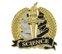 Bright Gold Science Lapel Pin