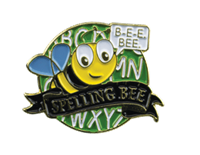 Color Fill Spelling Bee Lapel Pin