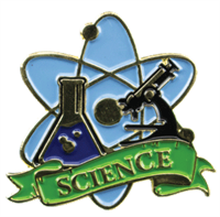 Color Fill Science Lapel Pin