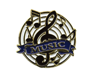 Color Fill Music Lapel Pin