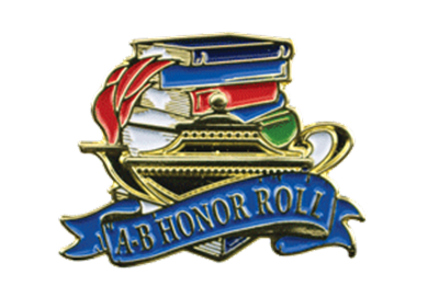 Color Fill AB Honor Roll Lapel Pin