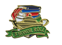 Color Fill B Honor Roll Lapel Pin