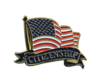 Color Fill Citizenship Lapel Pin