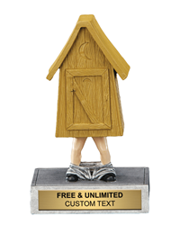 'Pants Down' Outhouse Bobble Trophy