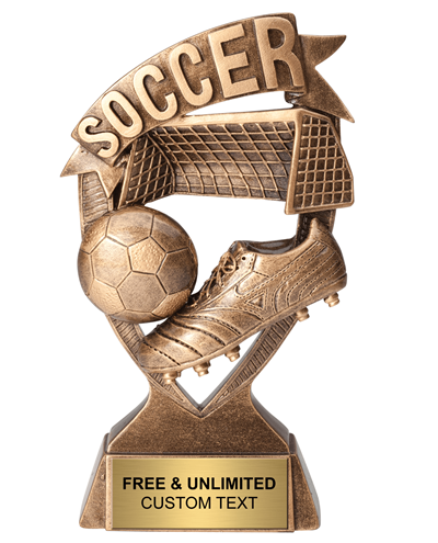 Soccer Ribbon Banner Trophy