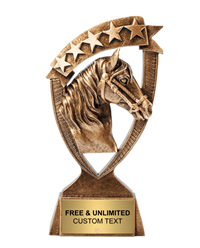 Horse Ribbon Banner Trophy