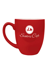 16 oz. Red Ceramic Bistro Coffee Mug