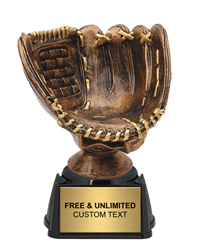 All Star Baseball Glove Trophy