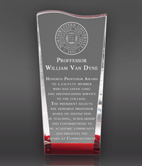 Red Wedge with Wave Crystal Award